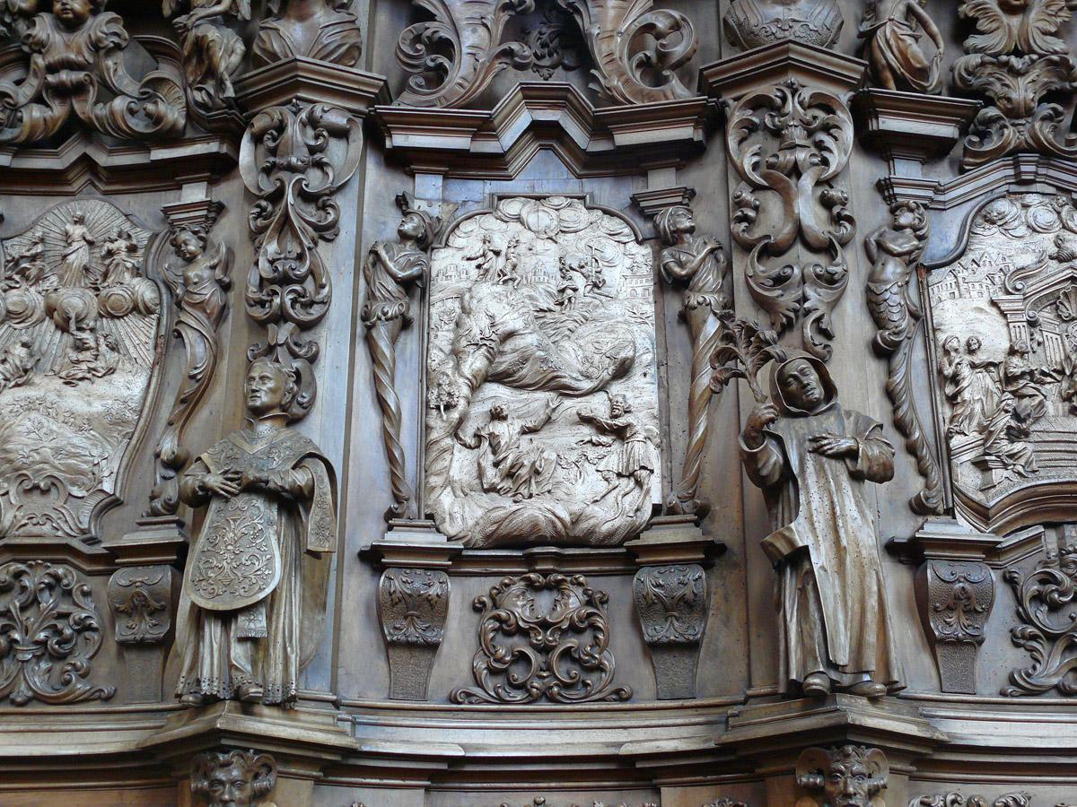 Detail der Dekoration am Chorgestühl in der Kirche von Kloster Schussenried; Foto: Staatliche Schlösser und Gärten Baden-Württemberg, Ortsverwaltung Schussenried