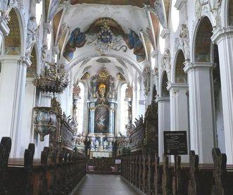 Ansicht des Innenraums der Klosterkirche St. Magnus; Foto: Staatliche Schlösser und Gärten Baden-Württemberg, Ortsverwaltung Schussenried