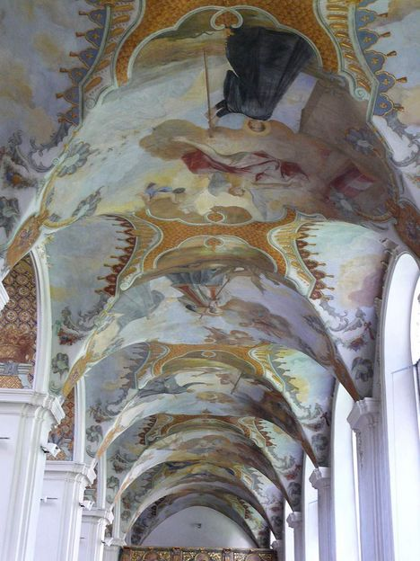 Schussenried monastery, ceiling fresco in the side aisle of the Church of St. Magnus