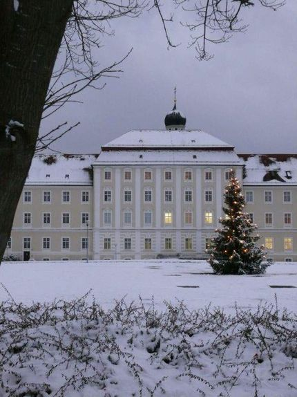 Schussenried monastery, view of the monastery in winter