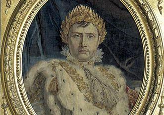 Bildnis von Napoleon Bonaparte in einem Gobelin von 1804; Foto: Landesmedienzentrum Baden-Württemberg, Dieter Jäger