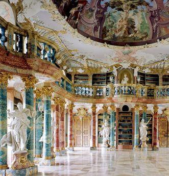 Bibliothekssaal von Kloster Wiblingen