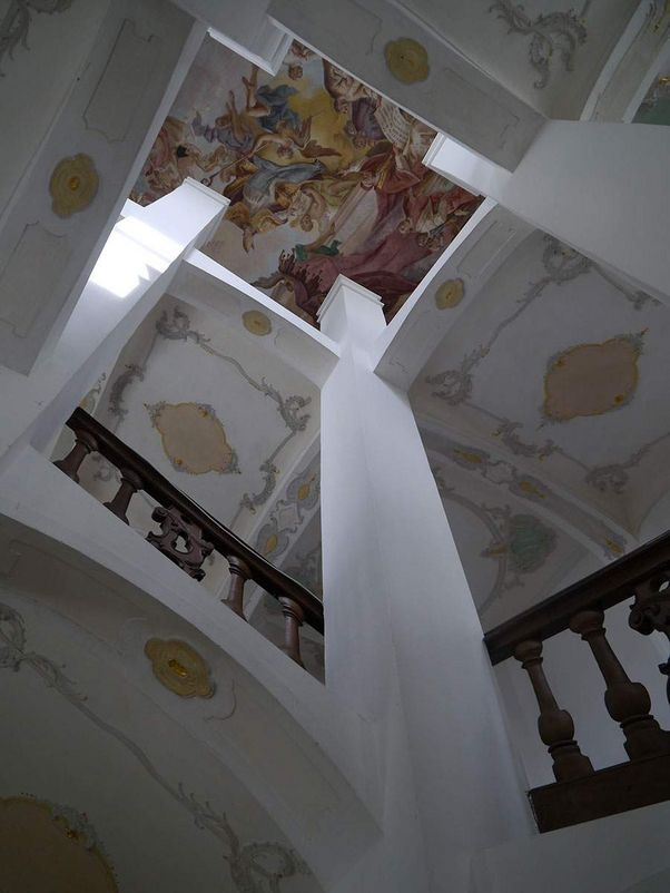 Schussenried monastery, view over the staircase