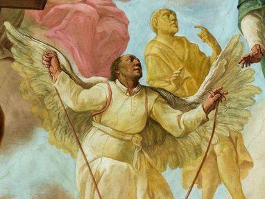 Kloster Schussenried, der Pater Mohr mit Flügeln