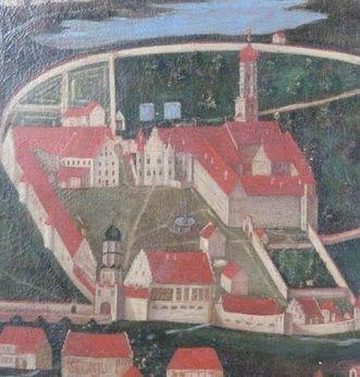 Kloster Schussenried, Gemälde aus dem Jahr 1624, heute im Museum Kloster Schussenried