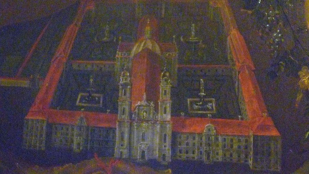 Idealansicht der von Jakob Emele geplanten Anlage, Gemälde 18. Jahrhundert, heute im Museum Kloster Schussenried