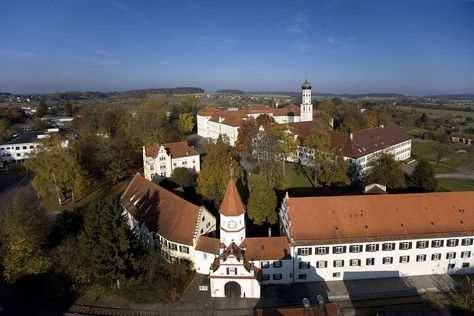 Schussenried monastery, aerial view of the monastery