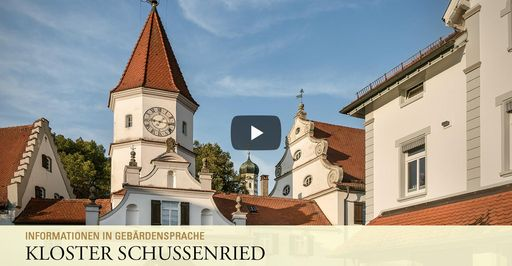 """Startbildschirm des Filmes """"Kloster Schussenried: Informationen in Gebärdensprache"""""""