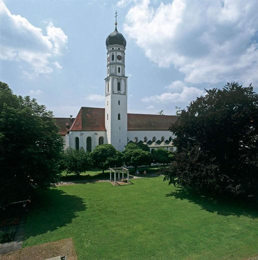 Schussenried monastery, view of the Church of St. Magnus