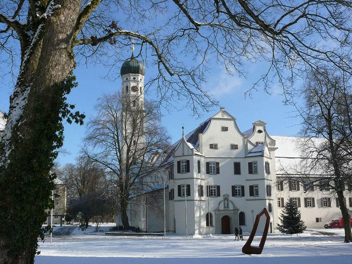 Schussenried monastery, view in winter