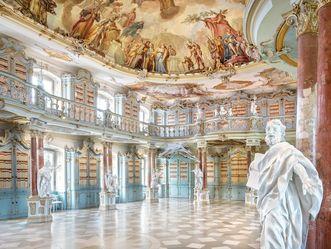 Kloster Schussenried, Detail Kirchenvater im Bibliothekssaal