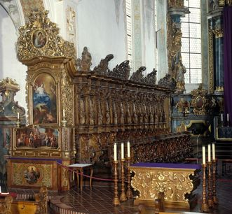 Ansicht des Chorgestühls der Kirche von Kloster Schussenried; Foto: Landesmedienzentrum Baden-Württemberg, Arnim Weischer