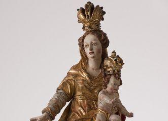 """Prozessionsmadonna, Exponat im Museum Kloster Schussenried, Themenbereich """"Marienverehrung"""""""
